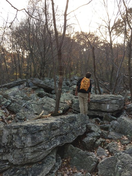 The trail between the pulpit and pinnacle can be rocky