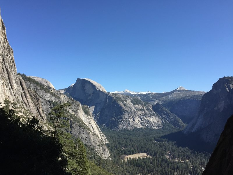 Half Dome from Upper Yosemite Falls Trail