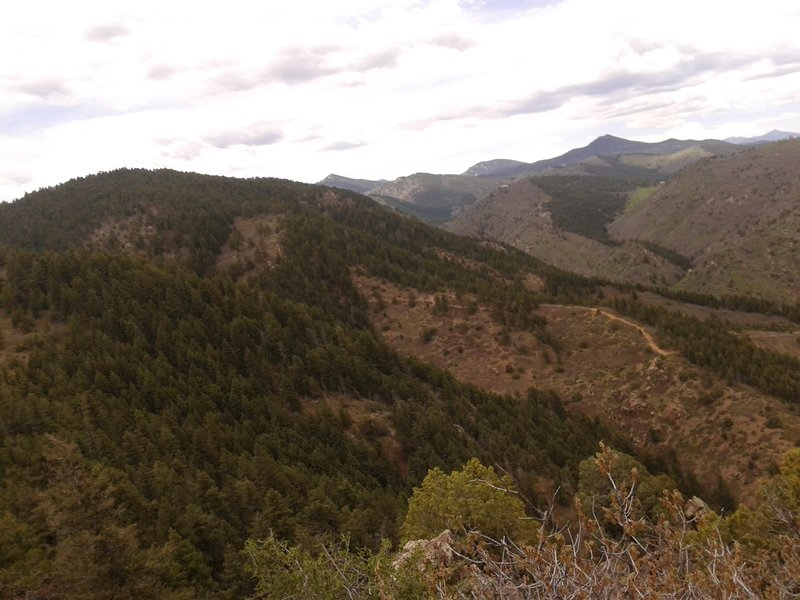 Scenic view from Golden Eagle Trail, westward