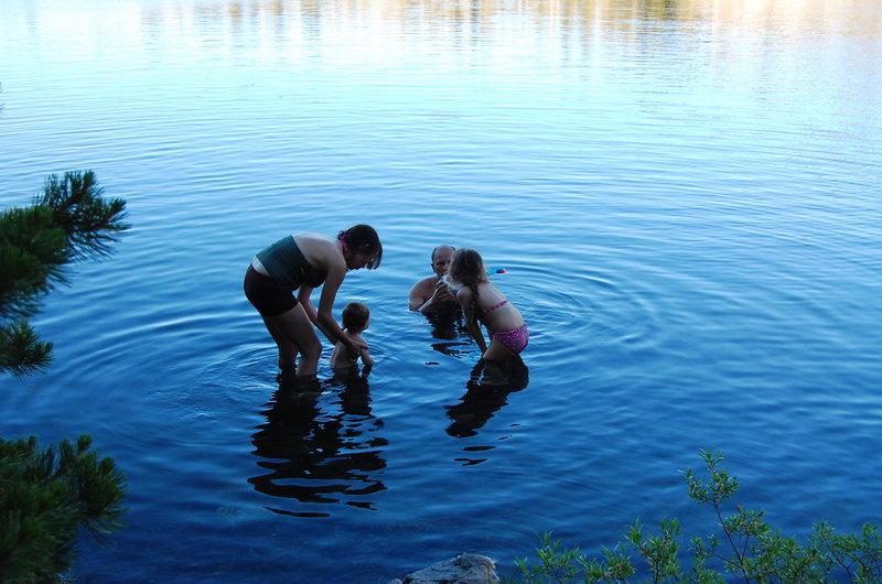 Great swimming to be had at Island Lake.