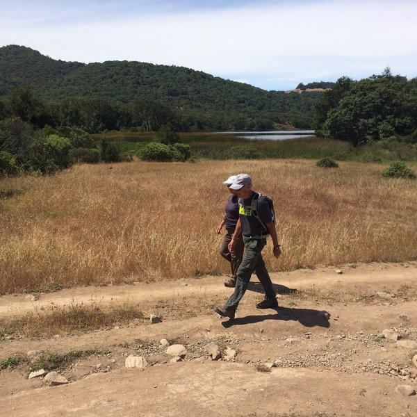 Hiking around Lake Ilsanjo