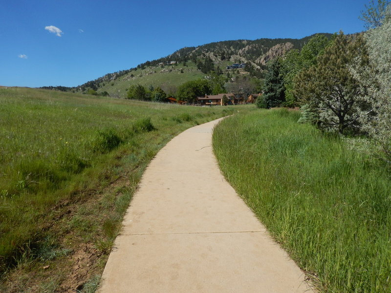 Easy going on this paved path
