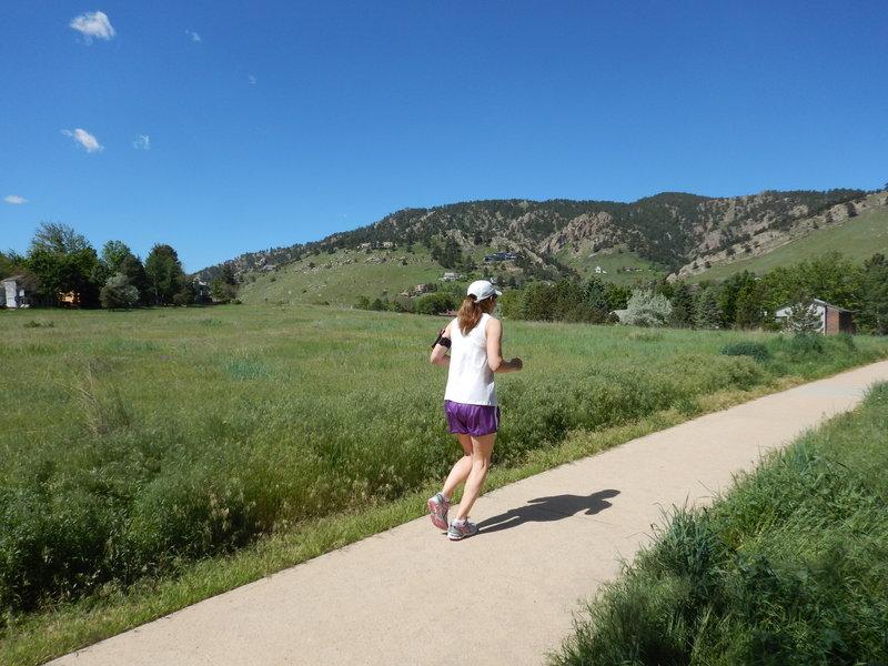 Nice day for a run on these neighborhood paths