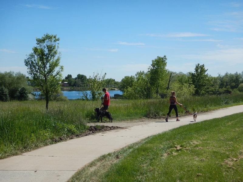 Wonderland Lake is a favorite for dog walkers