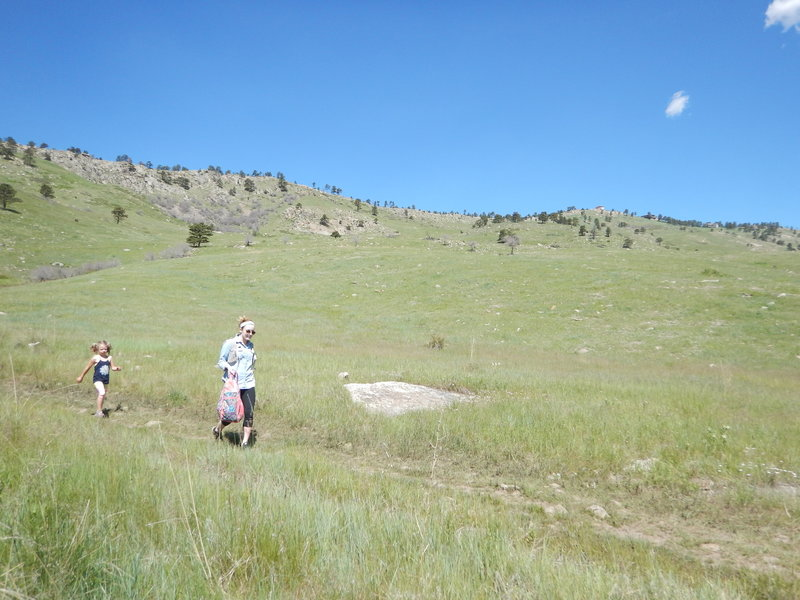 Hearty hikers along the Wonderland Hill Glider Trail