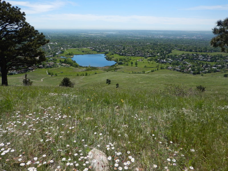 Views east of Wonderland Lake and north Boulder