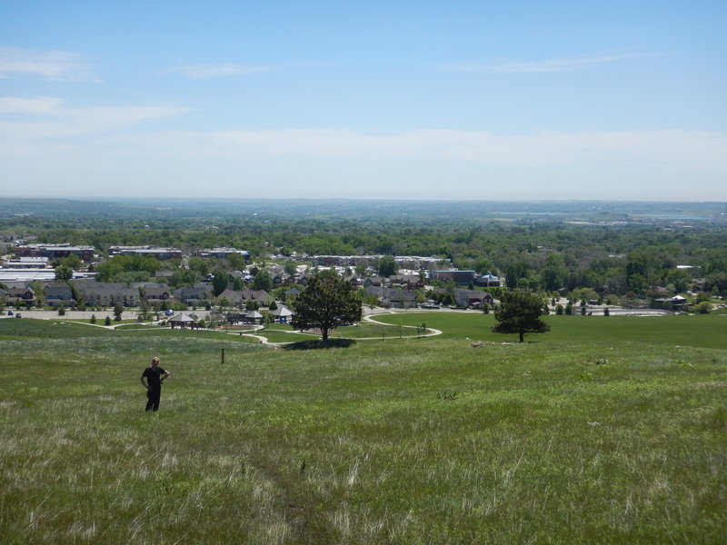 Foothills Community Park in the distance