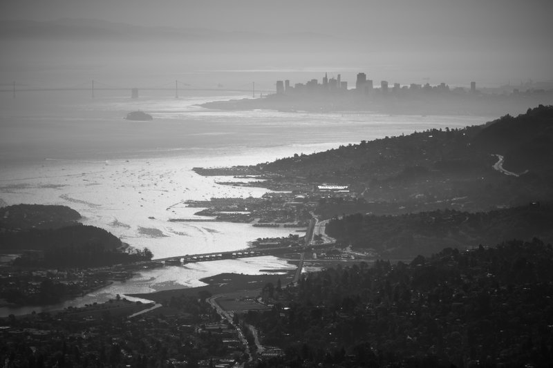 Looking down on the city from Mt. Tam.