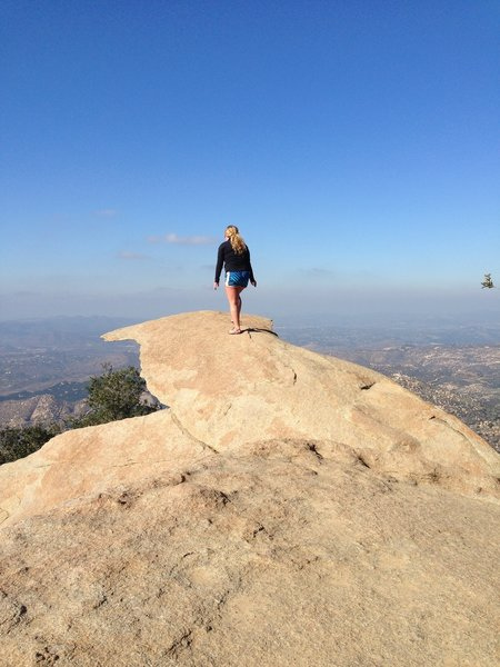 Enjoying the view from the top of Mt. Woodson. aka Potato Chip Rock.