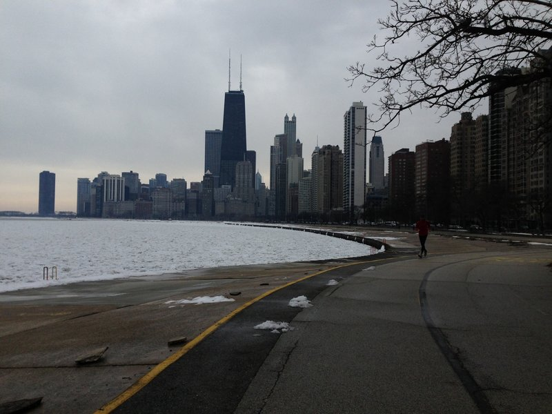 View from the Chicago Lakefront Trail.