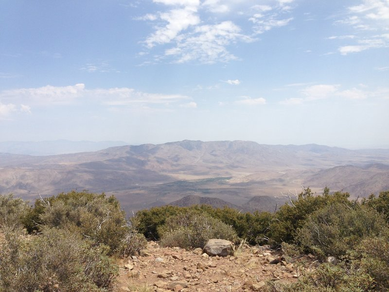 Looking at out at the desert from the PCT.