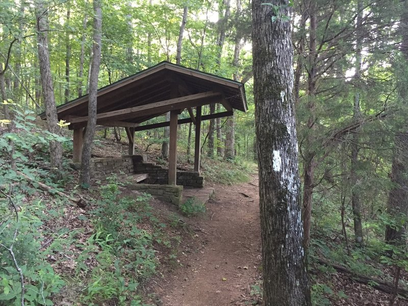 "South Plateau Loop has multiple rest shelters along it that provide a nice place to ""rest"" while taking in the view."