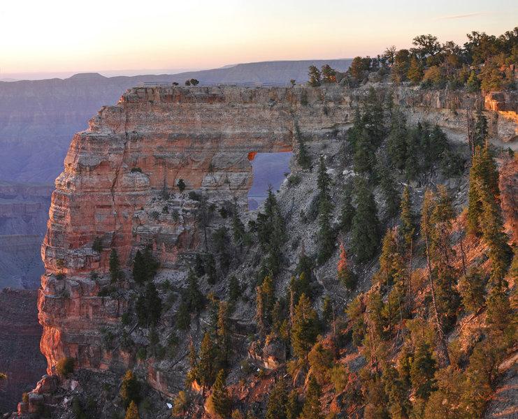 Sunrise on Angels Window (photo by NPS)