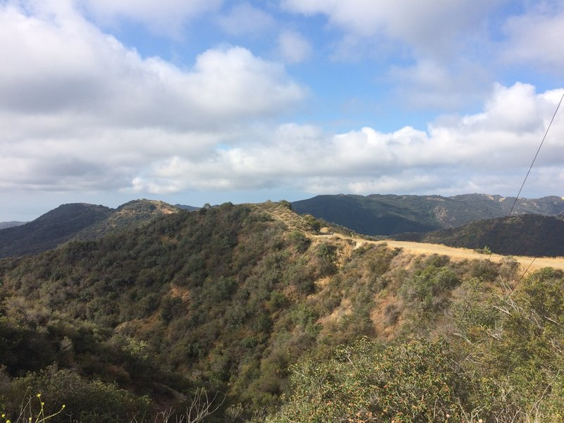 Running through the Santa Monica Mountains