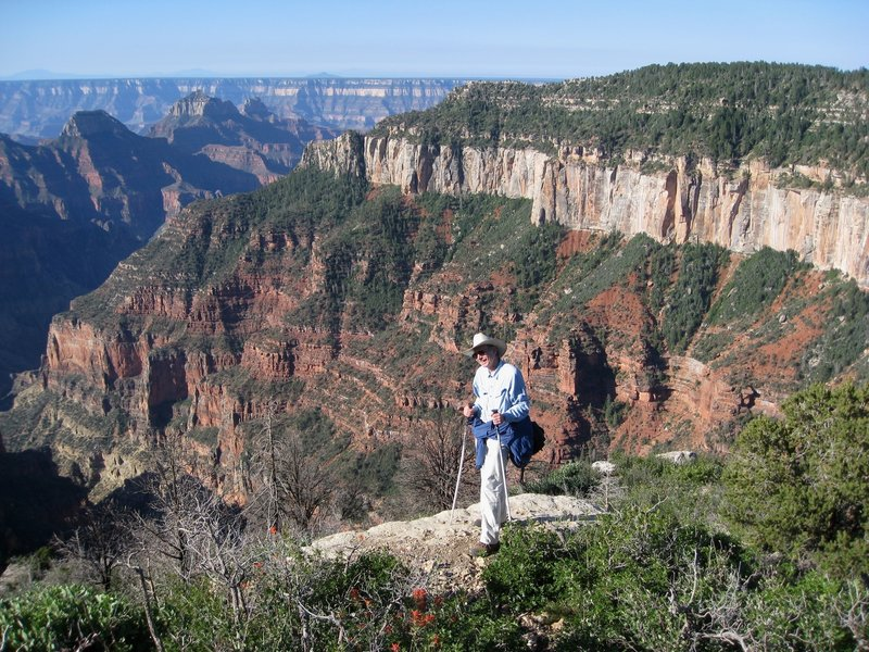 A morning hike on the Uncle Jim trail, at the viewpoint.   (Photo by brewbooks)
