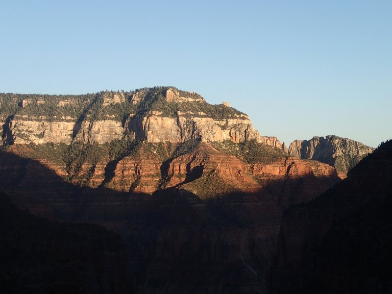 Sunset lights up the canyon walls