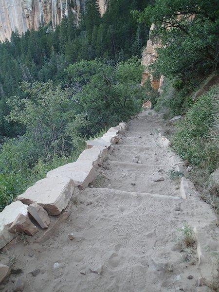 Stepping down the North Kaibab Trail