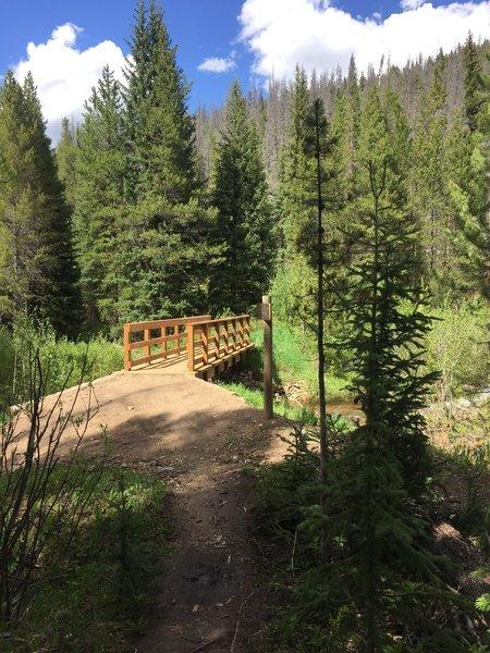 New bridge over South Fork Creek