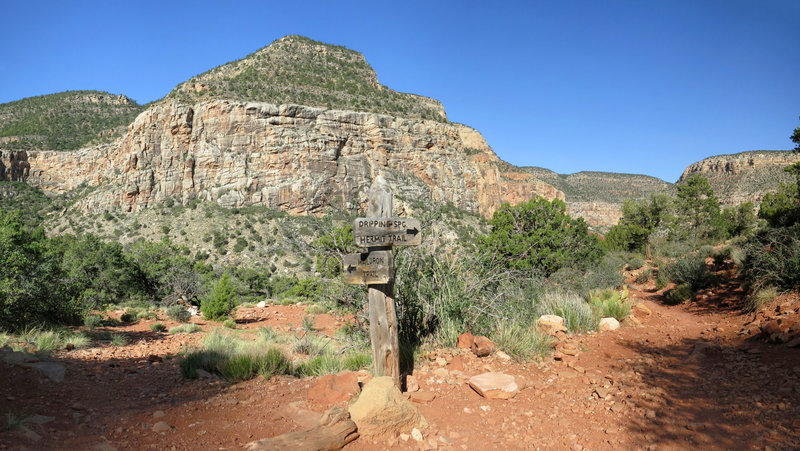 Junction of Hermit Trail and Waldron Trail (NPS photo by Michael Quinn)