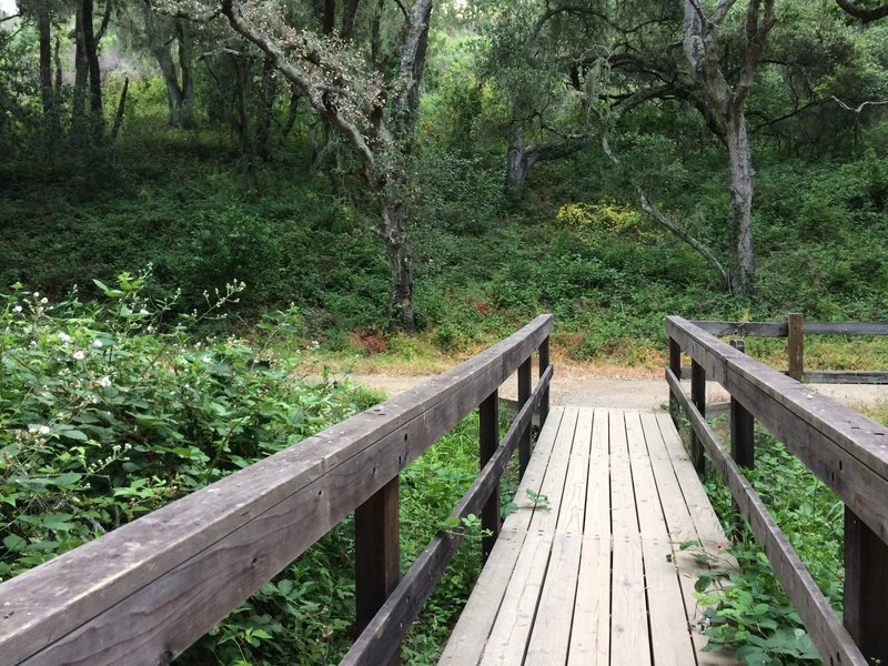 Pulgas Ridge Open Space Preserve. Bridge from the Trailhead.