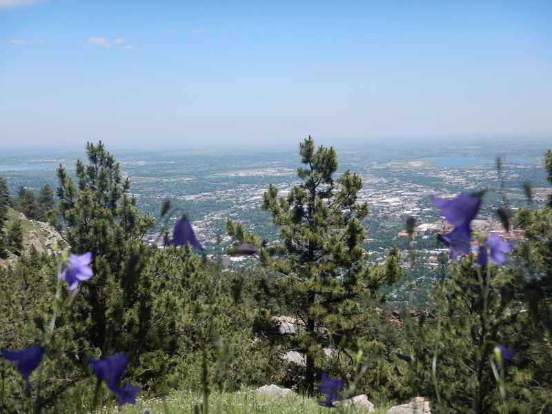 Nice views over the town Boulder