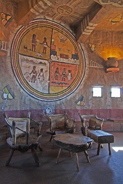 Desert View Watchtower, interior.