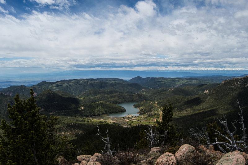 View of Rosemount-Penrose Reservoir from Mt. Rosa