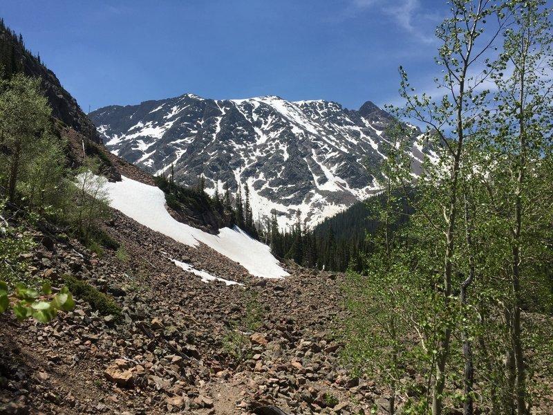 Gore Range approaching Mirror/Cataract Lake