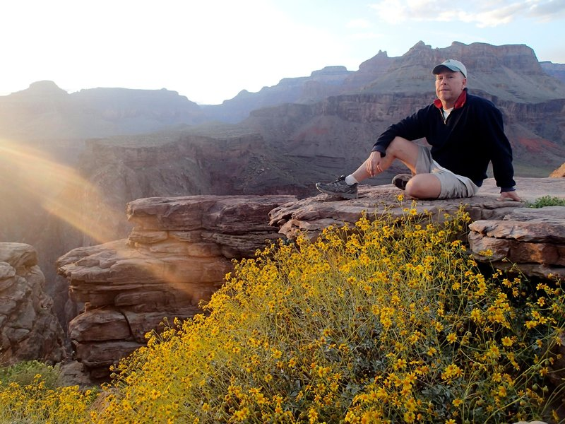 Enjoying the views from Plateau Point
