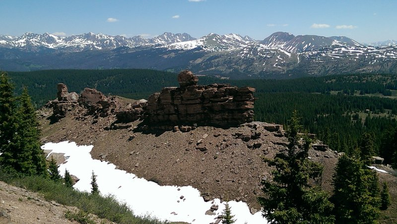 Dramatic scenery up here - Gore Range in the background