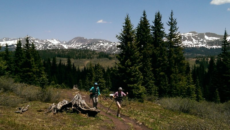Inspiring views all along the length of Shrine Ridge Trail