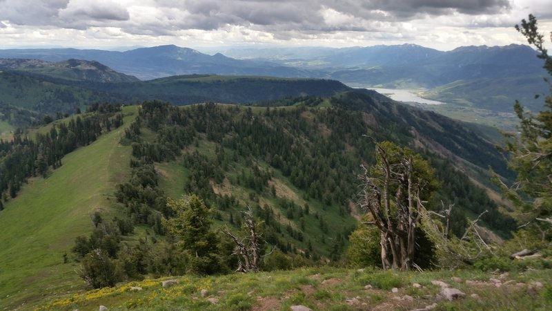 Looking to the south from James Peak