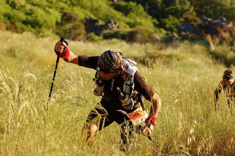 Competitor in the difficult climb to Marvão