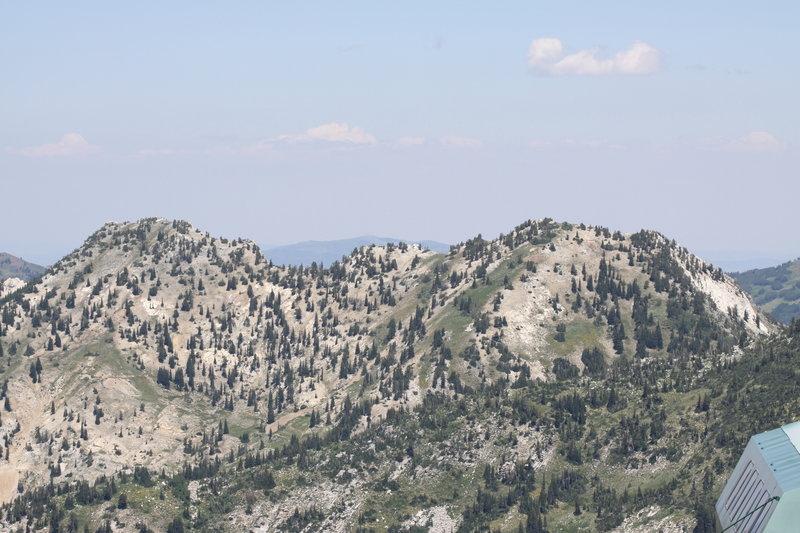 Views of the surrounding peaks.