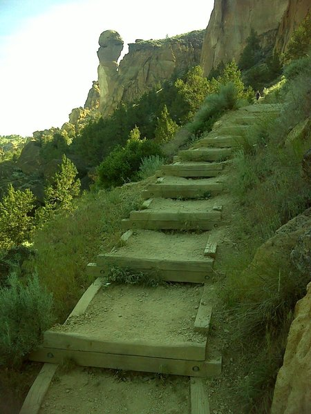 Steps and a good view of Monkey Face