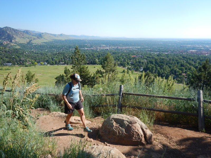 Great views over Boulder from the Bluebell Mesa Trail