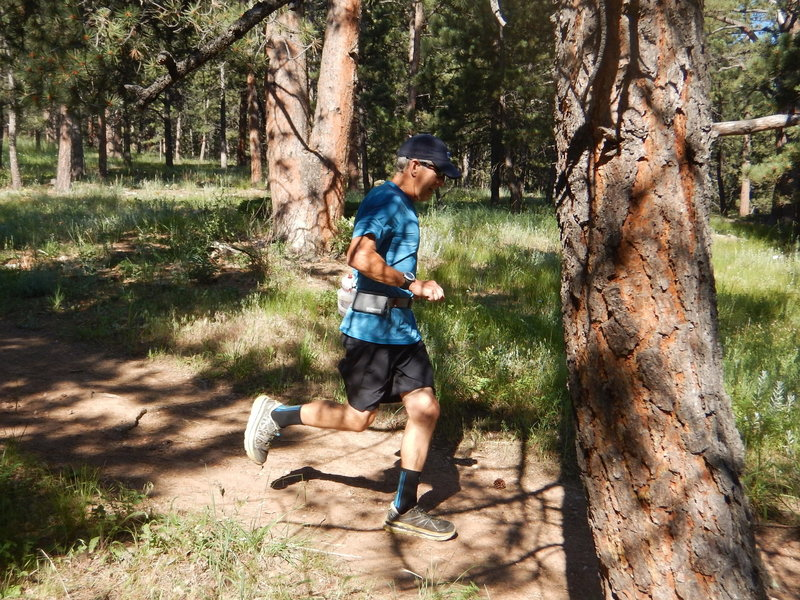 Good running conditions along the Bluebell Mesa Trail