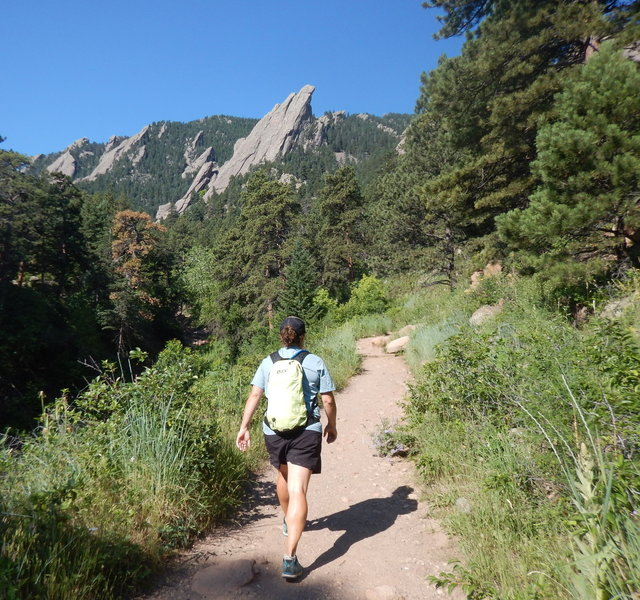 Great views of the Flatirons from this section of the Mesa Trail