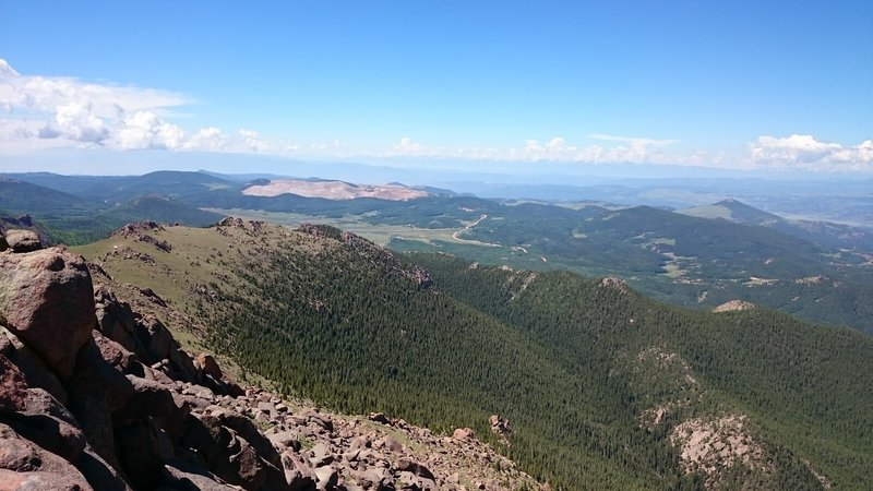 Looking southwest at the top of Sentinel Point.
