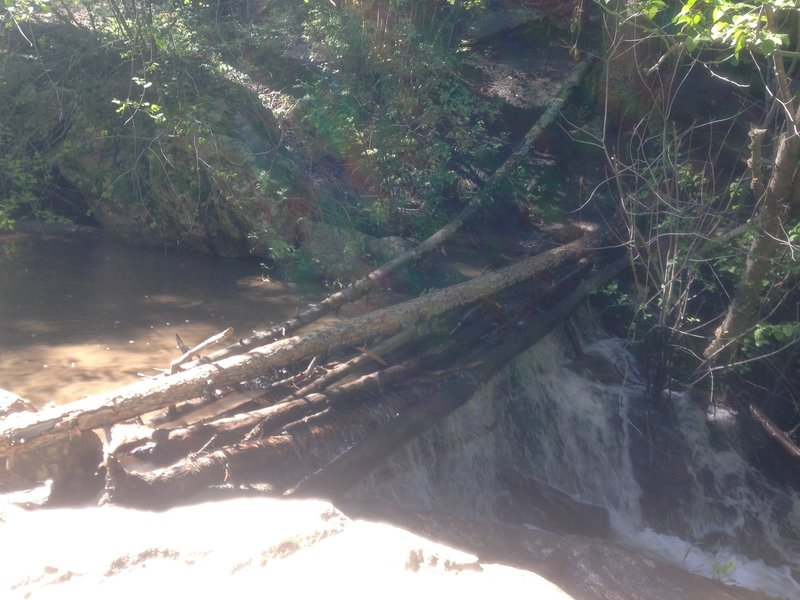 Water crossing after heavy rains along Beaver Brook trail