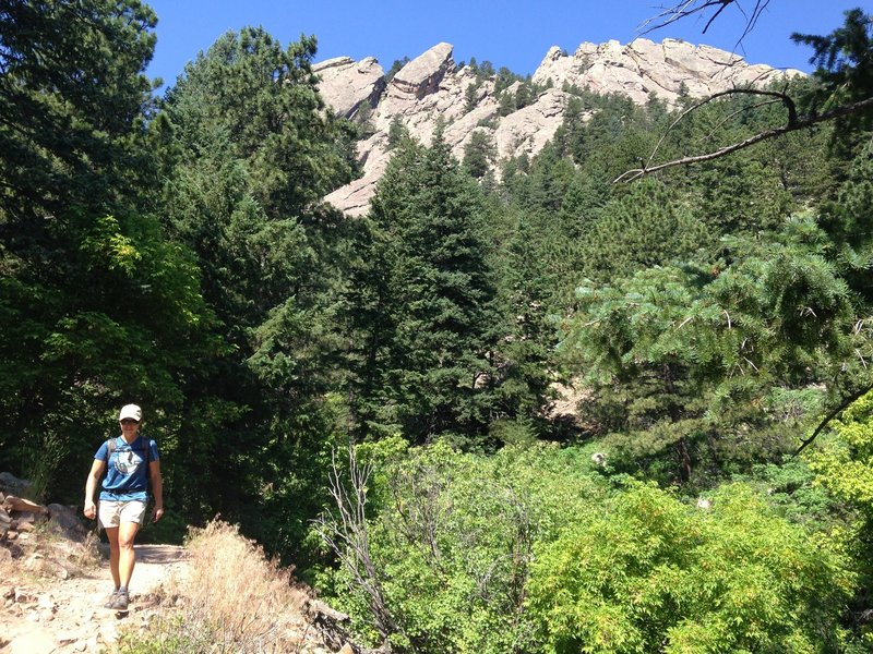 Beautiful Flatiron views on the Flatirons Loop Trail