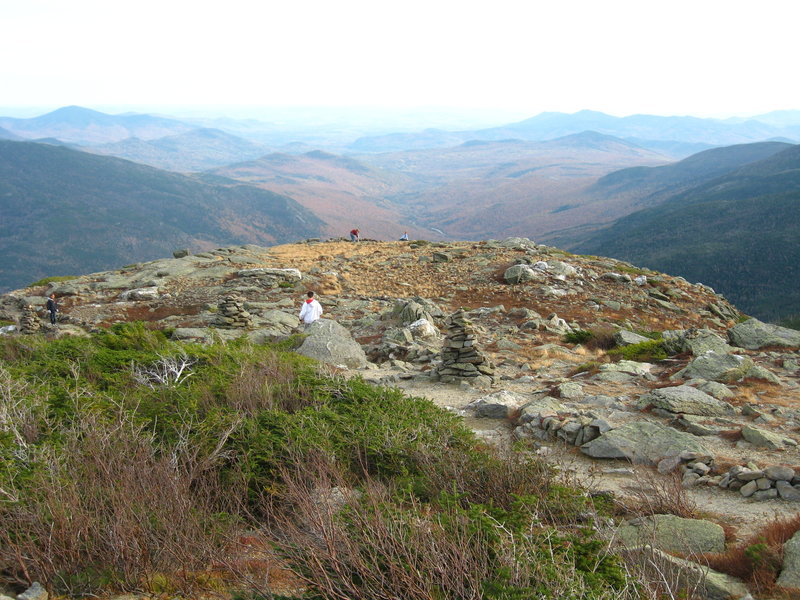 Looking back from the summit.