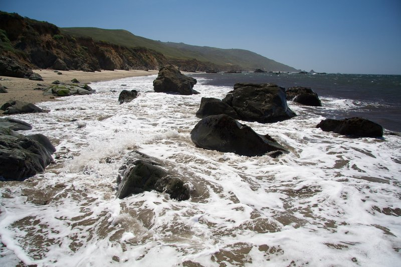 In the surf, Andrew Molera State Park