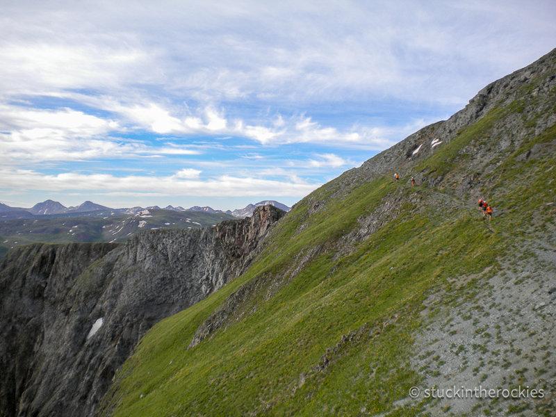 Dives-Little Giant Pass, heading towards Cunningham Gulch.