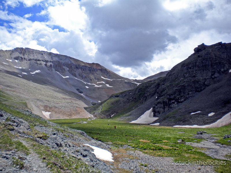 Upper Bear Creek drainage, between Oscar's Pass and Telluride.