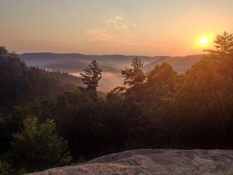 Sunrise from Natural Bridge
