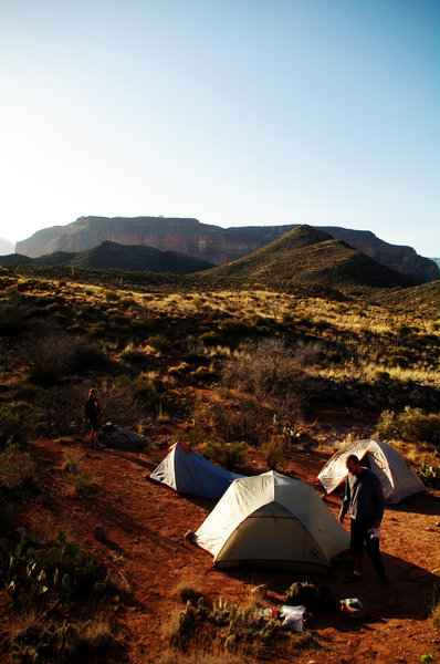 Camping in Surprise Valley, Grand Canyon NP (photo by Nathan Troop)