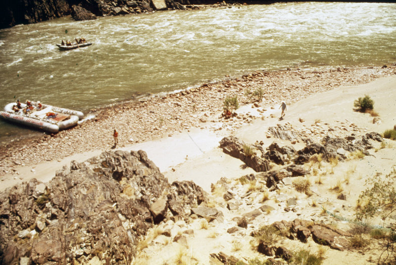 Historic picture of lower Boucher Rapids