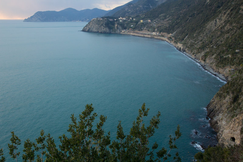 View of Corniglia and Punta Mesco