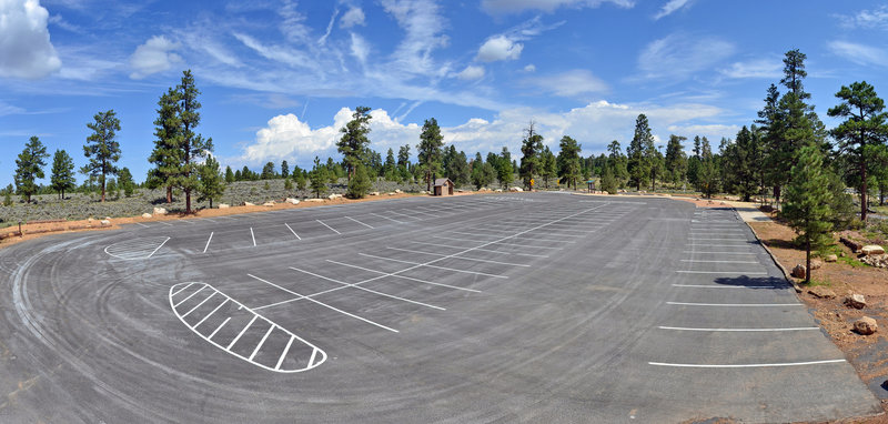 The new Tusayan trailhead parking area